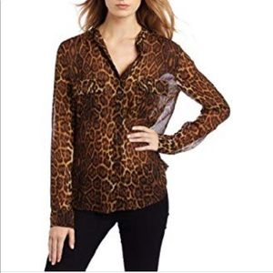 BCBGMAXAZRIA Anderson, animal print button down.